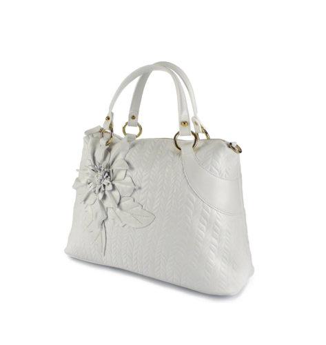 Женская сумка Braccialini B8613 из белой натуральной кожи