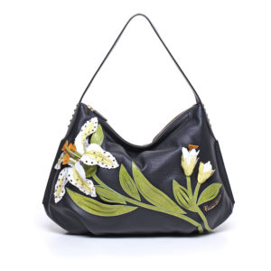 Женская итальянская сумка Braccialini B8693 с аппликацией из цветов