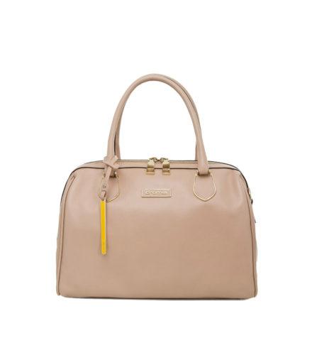 Итальянская кожаная сумка Cromia 1401687 бежевая