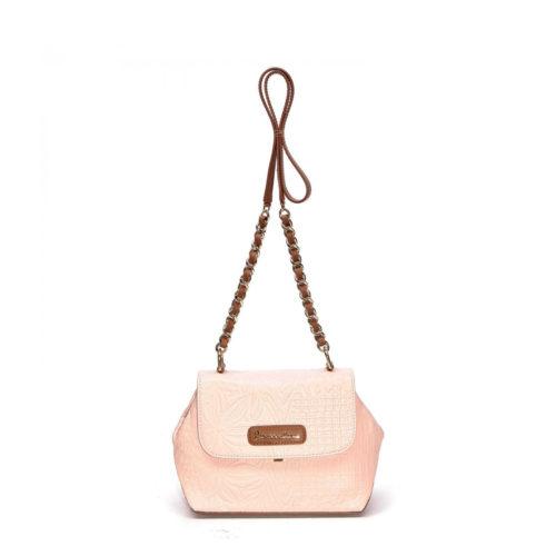 Итальянская женская сумка кросс-боди Braccialini 10543 розовая - цена, купить