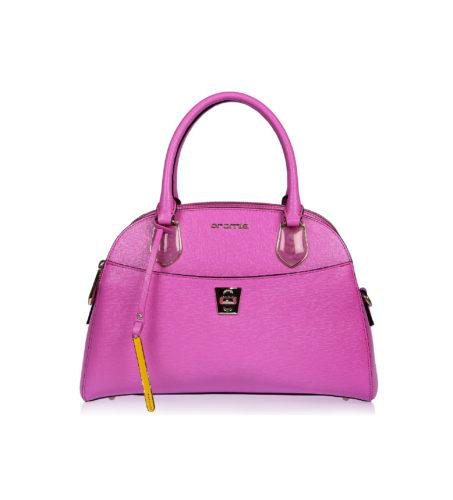 Итальянская кожаная сумка Cromia 1402659 цвета фуксия