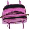 Итальянская кожаная сумка Cromia 1402659 цвета фуксия внутри