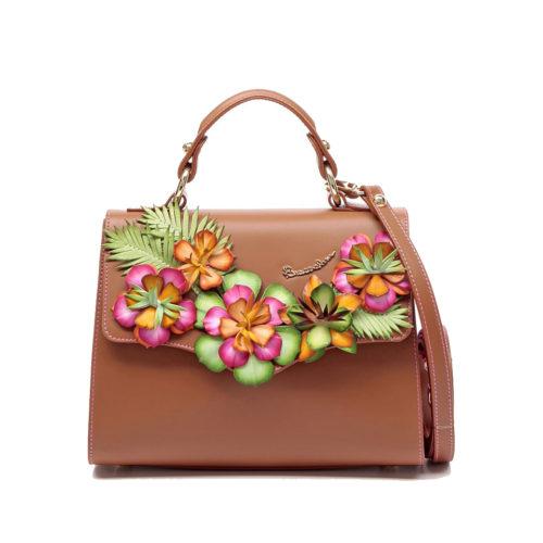 Итальянская сумка кросс-боди Braccialini 10707 мультиколор с аппликацией - купить, цена