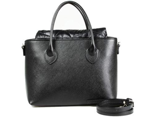 """Итальянская сумка """"2 в 1"""" Roberta Gandolfi N3023 черная сафьяновая кожа и полиамид"""