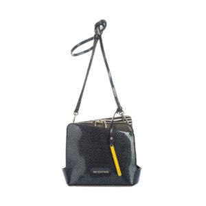 Итальянская лаковая сумка Cromia 1403002 черная