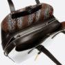 Женская итальянская сумка Cromia 1402723 3 отделения: 1 на молнии и 2 на заклепках
