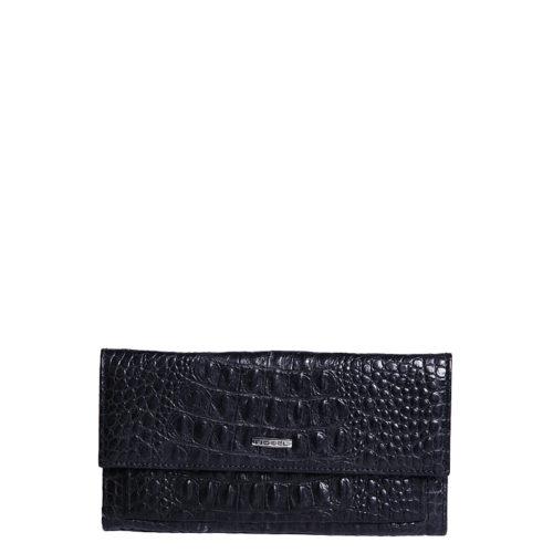 Женский кошелек Nobel 3629-croc черный - цена 3500 руб, купить