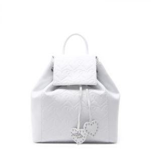 Купить рюкзак Braccialini B11272 из белой натуральной кожи