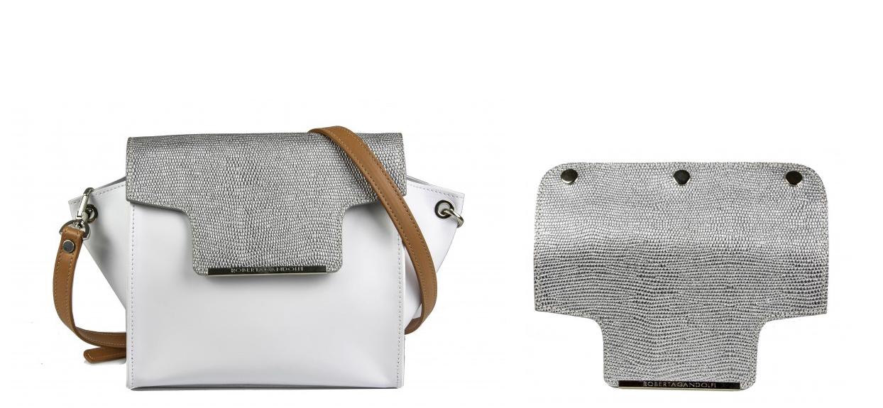 Белая сумка кросс-боди через плечо Roberta Gandolfi