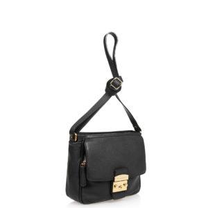 Купить сумку DI Gregorio 779-bl из черной натуральной кожи