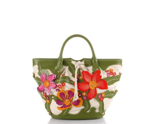 Купить сумку шоппер Braccialini b7731 с аппликацией