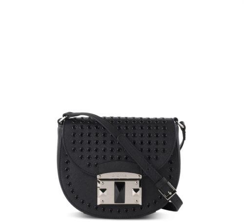 Купить сумку через плечо Cromia 1403478 из натуральной кожи черного цвета