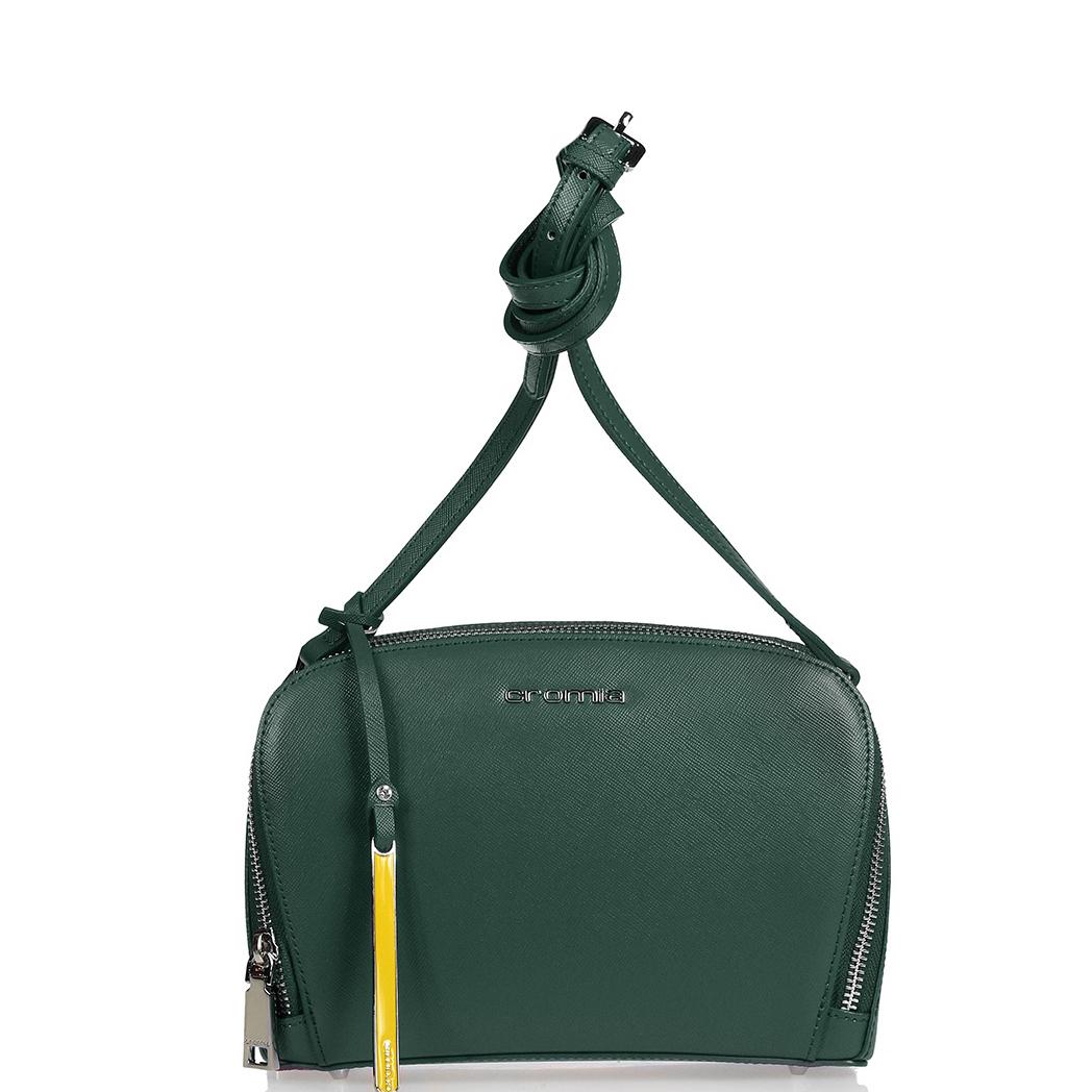 8180c183733c Купить сумку через плечо из натуральной кожи зеленого цвета Cromia 403380- blue