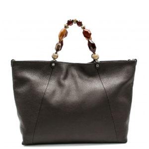 Купить большую сумку Roberta Gandolfi 1580 из натуральной коричневой кожи