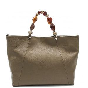 Купить большую сумку Roberta Gandolfi 1580 из натуральной бежевой кожи