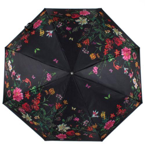 купить женский зонт складной Flioraj 190221 FJ черный