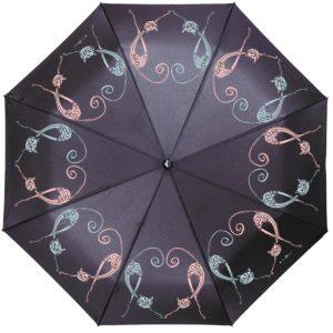 купить женский зонт складной Flioraj 190224 FJ черный