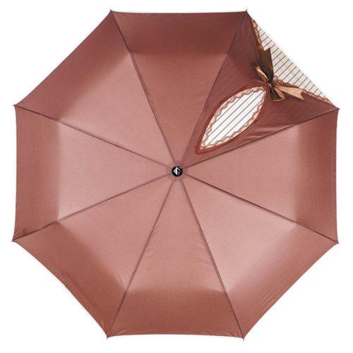 купить женский зонт складной Flioraj 20001 FJ коричневый