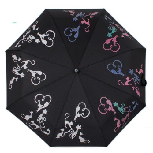 купить женский зонт складной Flioraj 210613 FJ черный
