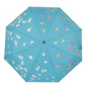 купить женский зонт складной Flioraj 210717 FJ голубой