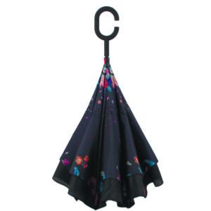 купить женский зонт трость 120023/2 FJ черный