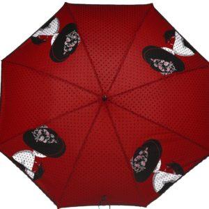 купить женский зонт трость Flioraj 121203 FJ красный
