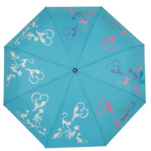 купить женский зонт складной Flioraj 210617 FJ голубой