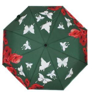 купить женский зонт складной Flioraj Imaginary 210203 FJ зеленый
