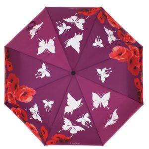 купить женский зонт складной Flioraj Imaginary 210204 FJ бордовый