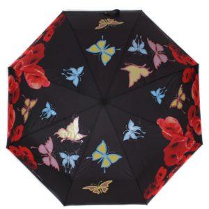 купить женский зонт складной Flioraj Imaginary 210205 FJ черный