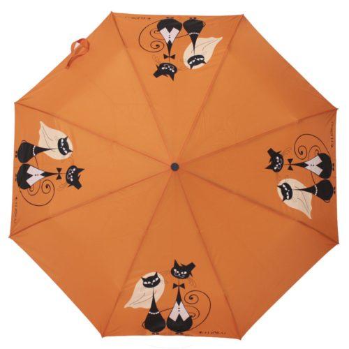 купить женский зонт складной Flioraj Toujours 160403 FJ оранжевый