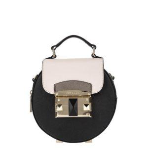 купить маленькую сумку Cromia 1403871 черно-бежевая