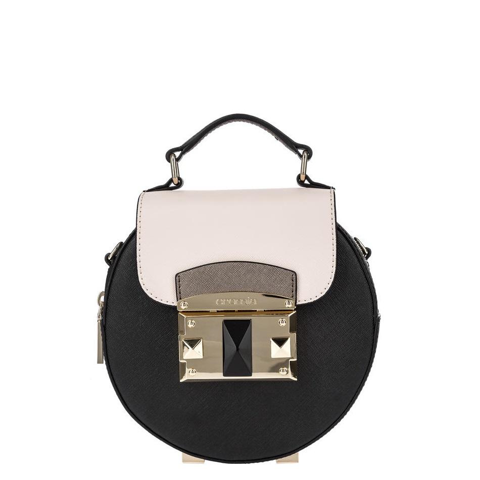 cda6e3f7aa87 Купить сумку Cromia 1403871 черно-бежевую - низкая цена, доставка
