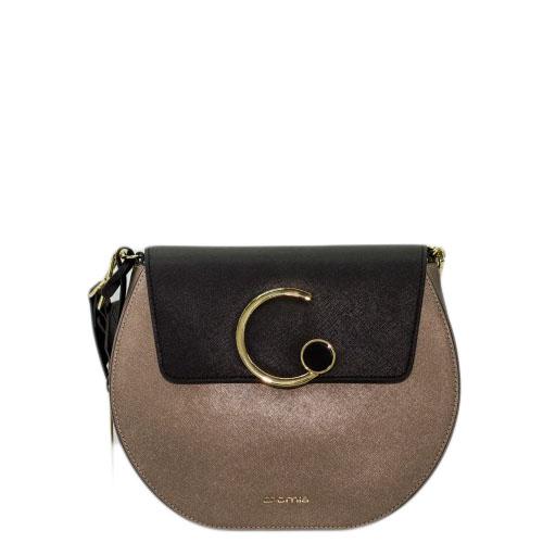 4eb2c1102721 Купить среднюю сумку Cromia 1403925 черно-бронзовую - цена 13200 руб ...