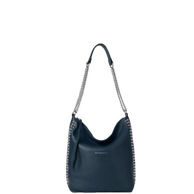 9a921de1db55 Купить среднюю сумку DI Gregorio 8701 темно-синюю - цена 10000 руб ...